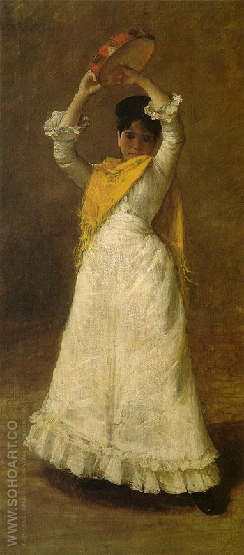 A Madrid Dancing Girl 1886 - William Merrit Chase reproduction oil painting