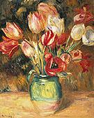 Vase of Tulips - Pierre Auguste Renoir
