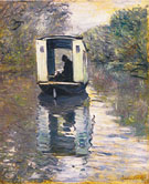 Studio Boat 1873 - Claude Monet reproduction oil painting