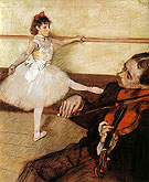 The Dance Lesson - Edgar Degas reproduction oil painting