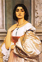 A Roman Lady La Nanna 1859 - Frederick Lord Leighton reproduction oil painting
