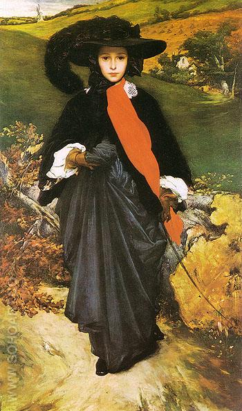 May Sartoris 1860 - Frederick Lord Leighton reproduction oil painting