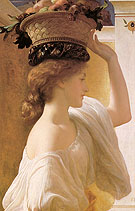 Eucharis A Girl with a Basket of Fruit 1863 - Frederick Lord Leighton reproduction oil painting