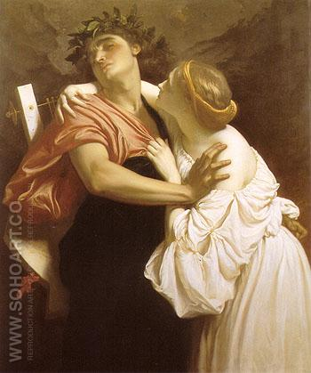 Orpheur and Eurydice 1864 - Frederick Lord Leighton reproduction oil painting