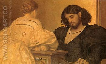 Golden Hours 1864 - Frederick Lord Leighton reproduction oil painting