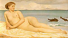Actaea the Nymph of the Shore 1868 - Frederick Lord Leighton reproduction oil painting