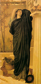 Electra at the Tomb of Agamemnon 1869 - Frederick Lord Leighton reproduction oil painting