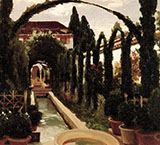 Garden of the Generalife 1870 - Frederick Lord Leighton reproduction oil painting