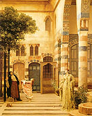 Old Damascus Jews Quarter 1873 - Frederick Lord Leighton reproduction oil painting