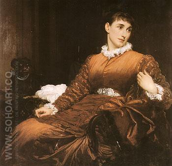Mrs Henry Evans Gordon 1875 - Frederick Lord Leighton reproduction oil painting