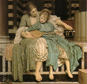 Music Lesson 1887 - Frederick Lord Leighton reproduction oil painting