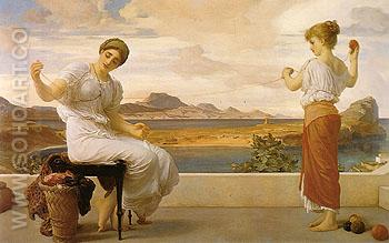 Winding the Skein 1878 - Frederick Lord Leighton reproduction oil painting