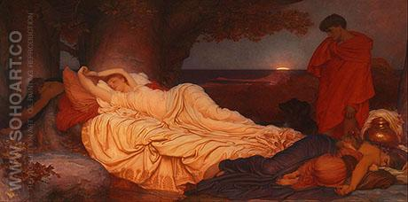 Cymon and Iphigenia 1884 - Frederick Lord Leighton reproduction oil painting