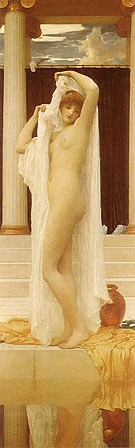 The Bath of Psyche 1890 - Frederick Lord Leighton reproduction oil painting