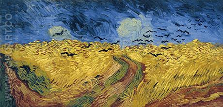 Wheat Field with Crows 1890 - Vincent van Gogh reproduction oil painting