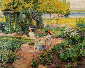 In The Garden 1910 - Alson Skinner Clark reproduction oil painting