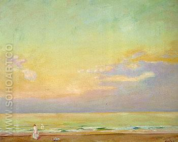 Sunset Normandy 1910 - Alson Skinner Clark reproduction oil painting