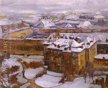 Over The City Prague 1912 - Alson Skinner Clark reproduction oil painting