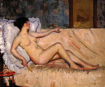 Reclining Nude 1912 - Alson Skinner Clark reproduction oil painting