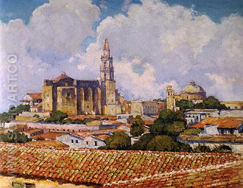 After the Shower Cuernavaca 1923 - Alson Skinner Clark reproduction oil painting