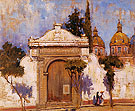 Carmen Gate san Angel No 2 1923 - Alson Skinner Clark reproduction oil painting