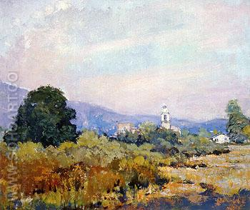 Monterey Park 1925 - Alson Skinner Clark reproduction oil painting