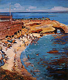 La Jolla Cave 1928 - Alson Skinner Clark reproduction oil painting