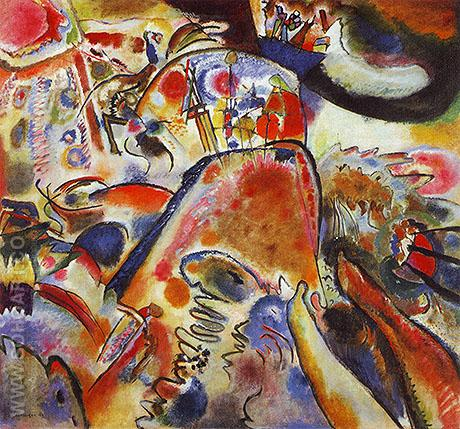 Small Pleasures 1912 - Wassily Kandinsky reproduction oil painting
