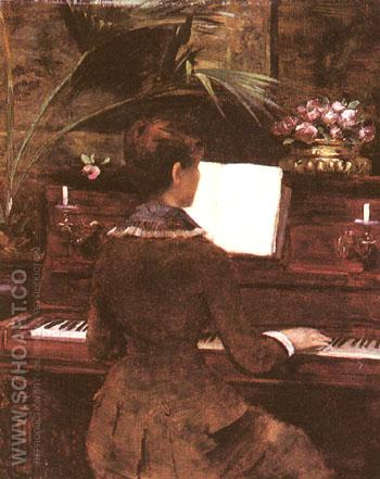 At the Piano - Louise Abeema reproduction oil painting