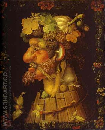 Autumn 1573 - Giuseppe Arcimboldo reproduction oil painting
