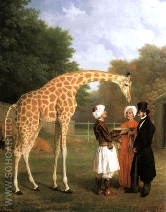 The Nubian Giraffe 1827 - Jean Laurent Agasse reproduction oil painting