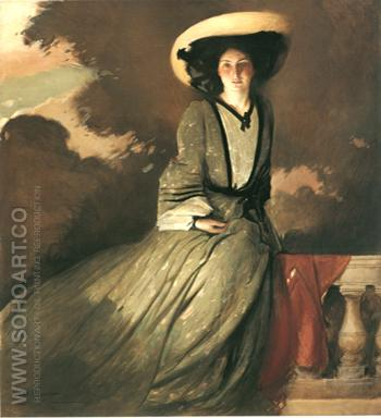 Portrait of Mrs John White Alexander 1856 - John White Alexander reproduction oil painting