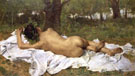 Young Bacchus 1872 - Juan Joaquin Agrasot reproduction oil painting