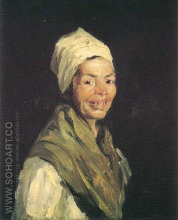Celestina 1908 - Robert Henri reproduction oil painting