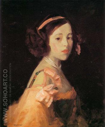 La Madrilenita 1910 - Robert Henri reproduction oil painting