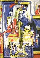 Tabla and Vases The Magic Mirror 1935 - Hans Hofmann
