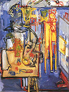 Interior still Life with Figure 1935 - Hans Hofmann reproduction oil painting