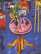 Interior No 1 Pink Table Yellow Tulips 1939 - Hans Hofmann