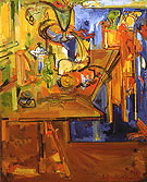 Still Life with Fruit and Coffee Pot 1940 - Hans Hofmann