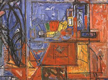Still Life With Book 1941 - Hans Hofmann reproduction oil painting