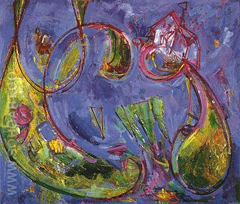 Dawn verso 1942 - Hans Hofmann reproduction oil painting