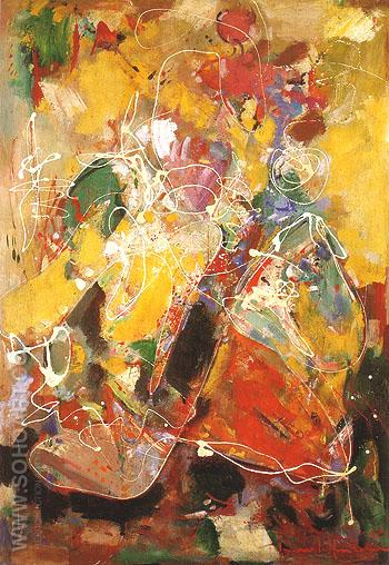 Fantasia 1943 - Hans Hofmann reproduction oil painting