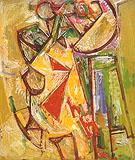 The Chair 1944 - Hans Hofmann reproduction oil painting