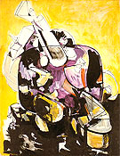 Seated Woman IV 1944 - Hans Hofmann reproduction oil painting