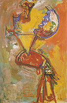 Idolatress I 1944 - Hans Hofmann reproduction oil painting