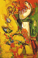 Idolatric 1944 - Hans Hofmann reproduction oil painting