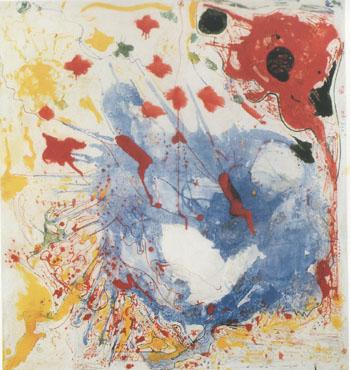 Cataclysm Homage to Howard Putze 1945 - Hans Hofmann reproduction oil painting