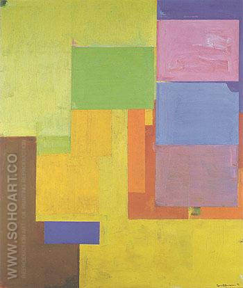 Veluti in Speculum 1962 - Hans Hofmann reproduction oil painting