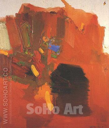 Evening Red 1965 - Hans Hofmann reproduction oil painting