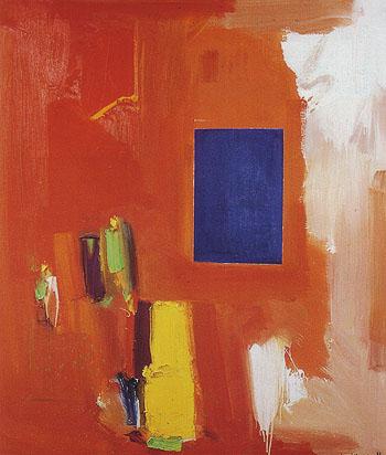 Majestic Blue 1965 - Hans Hofmann reproduction oil painting